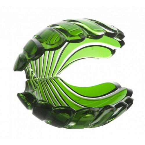 Crystal Seashell, color green, height 140 mm