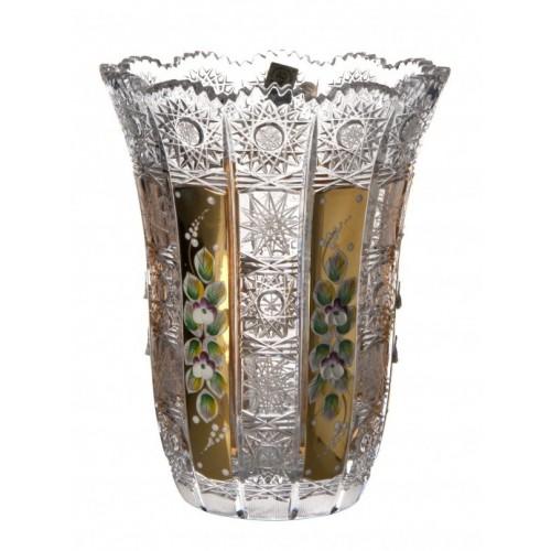 Crystal Vase 500K gold VI, color clear crystal, height 205 mm