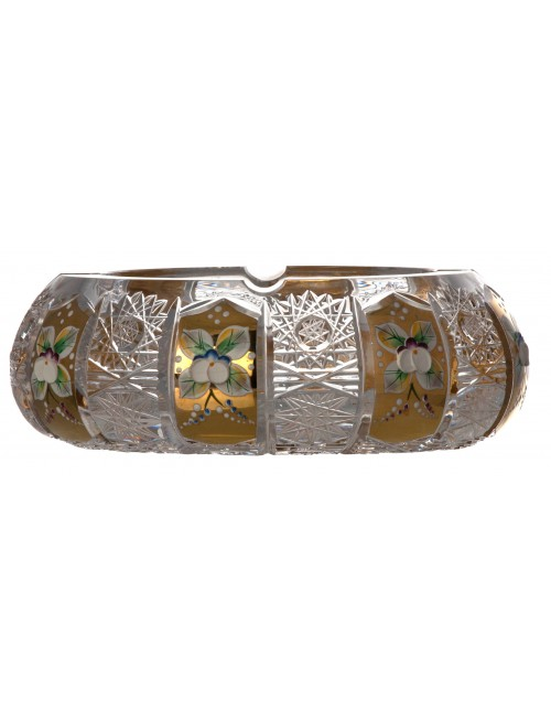 Crystal ashtray 500PK gold, color clear crystal, diameter 180 mm