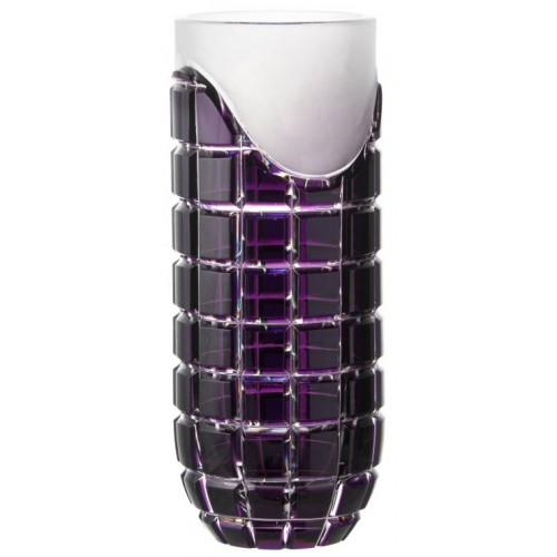 Crystal Vase Neron, color violet, height 300 mm