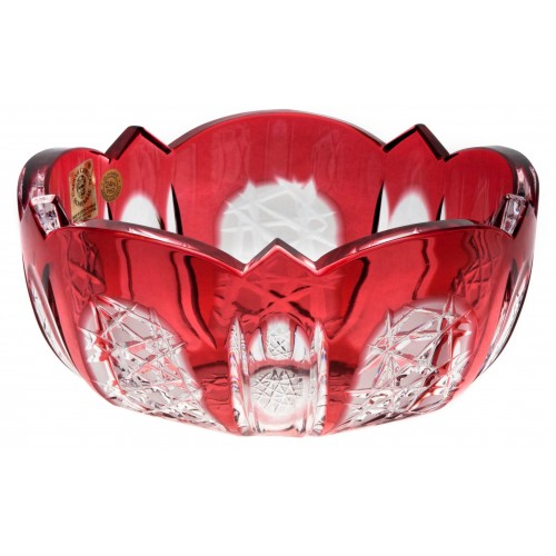 Crystal bowl Frigus, color ruby, diameter 155 mm