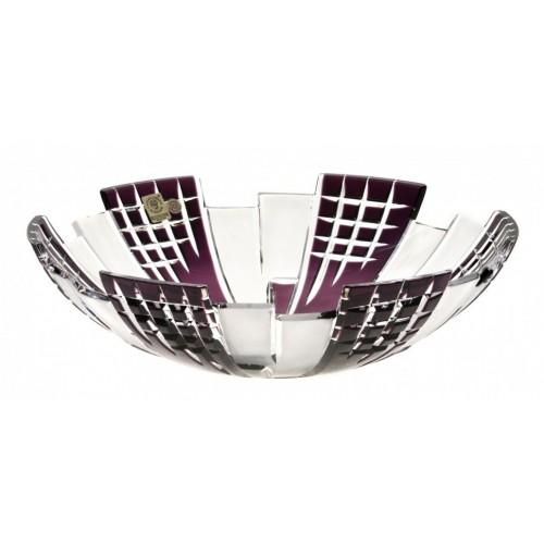 Crystal Bowl Metropolis, color violet, diameter 280 mm