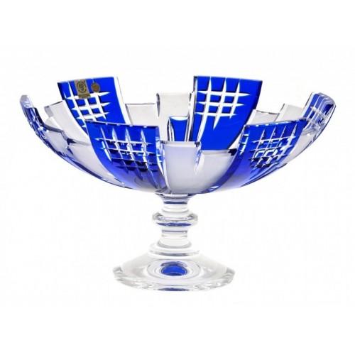 Crystal Footed Bowl Metropolis, color blue, diameter 280 mm