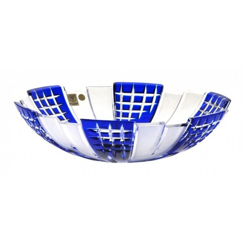 Crystal Bowl Metropolis, color blue, diameter 280 mm