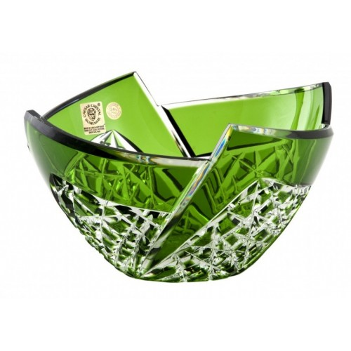 Crystal Bowl Fan, color green, diameter 180 mm