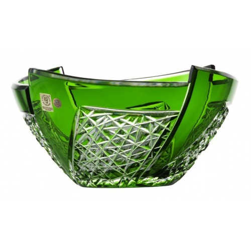 Crystal Bowl Fan, color green, diameter 225 mm