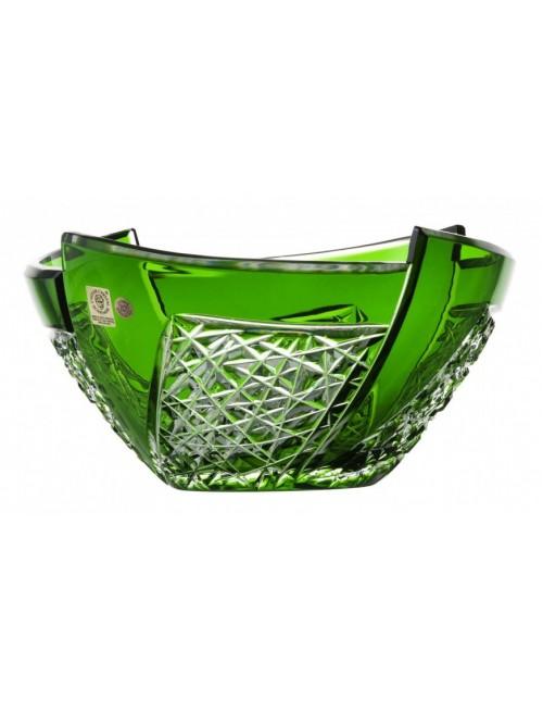Crystal Bowl Fan, color green, diameter 225 mm