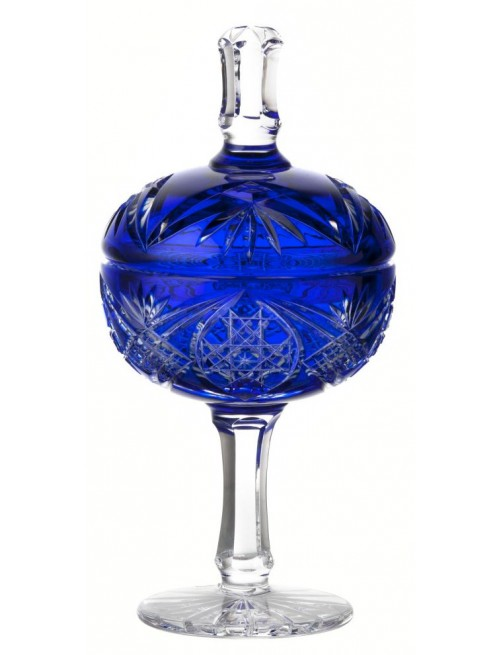 Crystal cup Taiga, color blue, height 315 mm