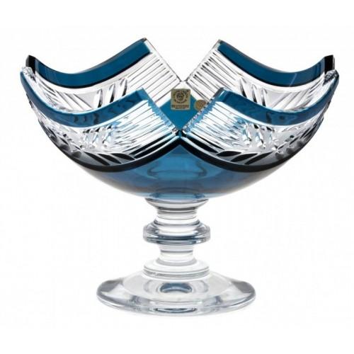 Crystal Footed Bowl Laurel, color azure, diameter 230 mm