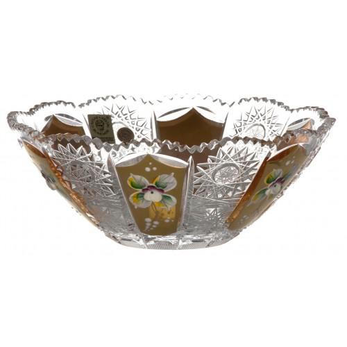 Crystal bowl 500K gold, color clear crystal, diameter 180 mm