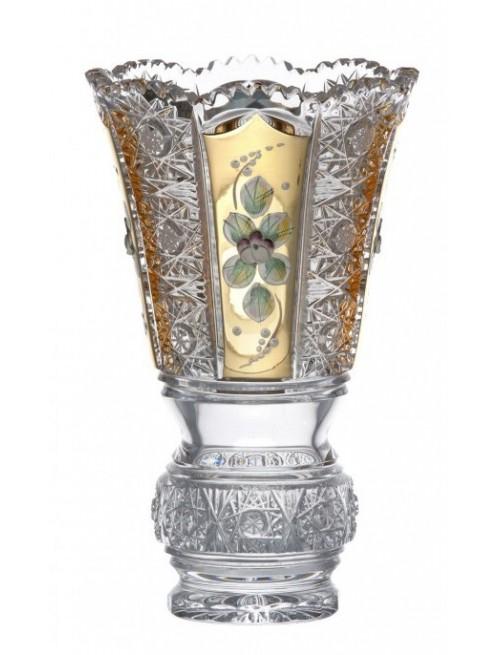 Crystal Vase 500 K Gold, color clear crystal, height 205 mm