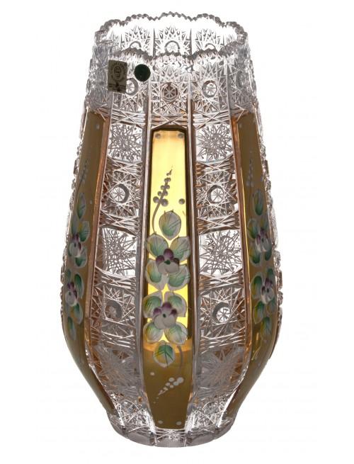 Crystal vase 500 K Gold, color clear crystal, height 255 mm