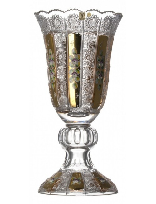 Crystal Vase 500 K Gold, color clear crystal, height 430 mm