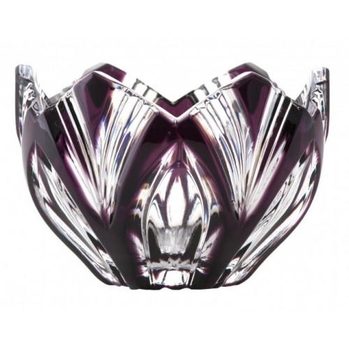 Crystal Bowl Lotus, color violet, diameter 85 mm