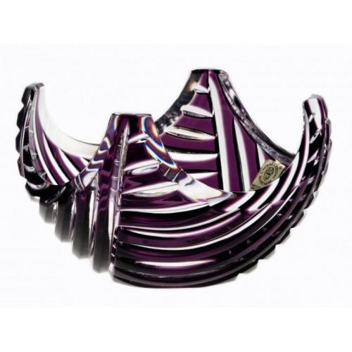 Crystal Bowl Linum, color violet, diameter 140 mm