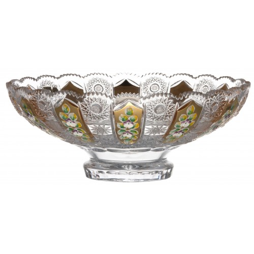 Crystal bowl 500K gold, color clear crystal, diameter 305 mm