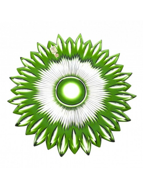 Crystal Plate Flame, color green, diameter 300 mm