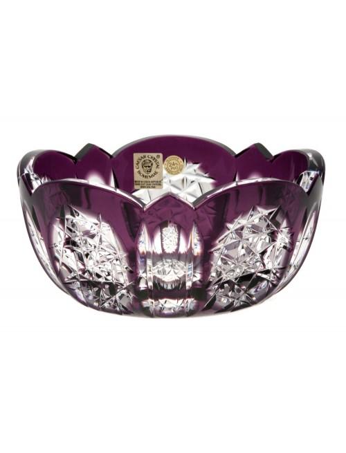 Crystal Bowl Frigus, color violet, diameter 155 mm