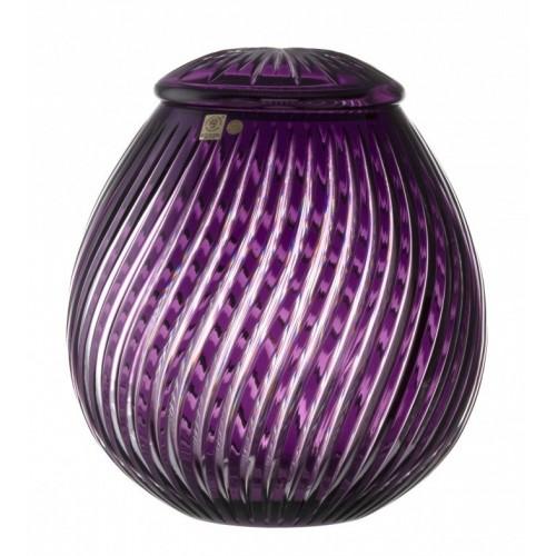 Crystal Urn Zita, color violet, height 290 mm