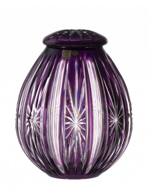 Crystal Urn Spark, color violet, height 230 mm
