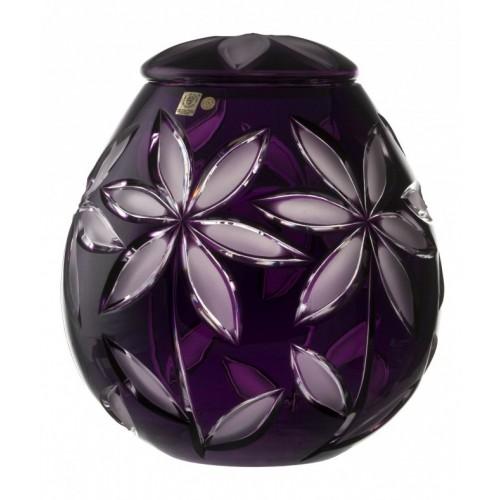 Crystal Urn Linda dim, color violet, height 290 mm