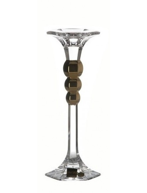Crystal Candlestick Empire Gold, color clear crystal, height 205 mm