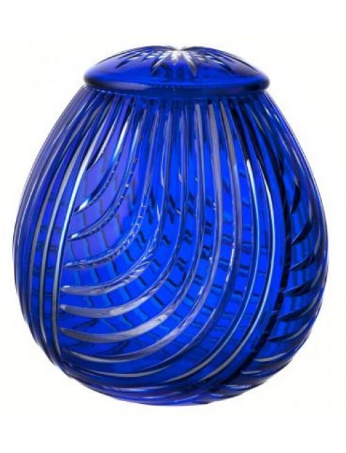 Crystal urn Linum, color blue, height 290 mm