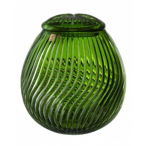 Crystal Urn Zita, color green, height 290 mm