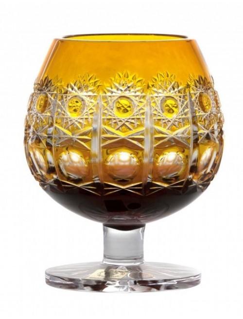 Crystal Glass Brandy Petra, color amber, volume 230 ml