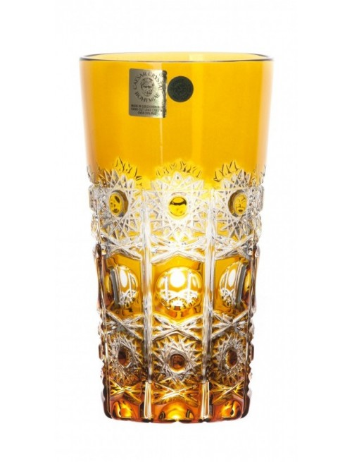 Crystal Glass Petra, color amber, volume 320 ml