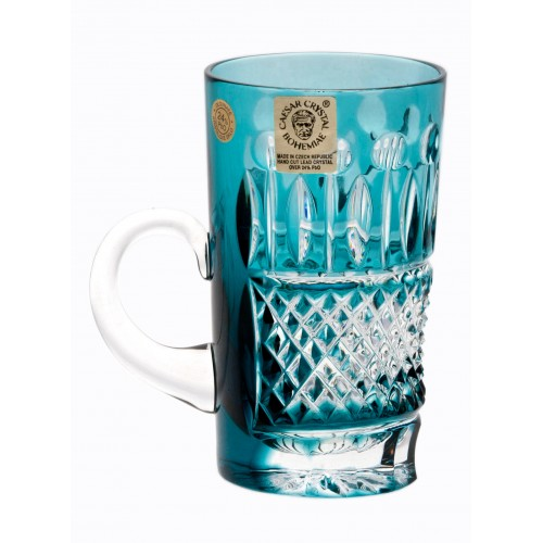 Crystal cup Tomy, color azure, volume 100 ml