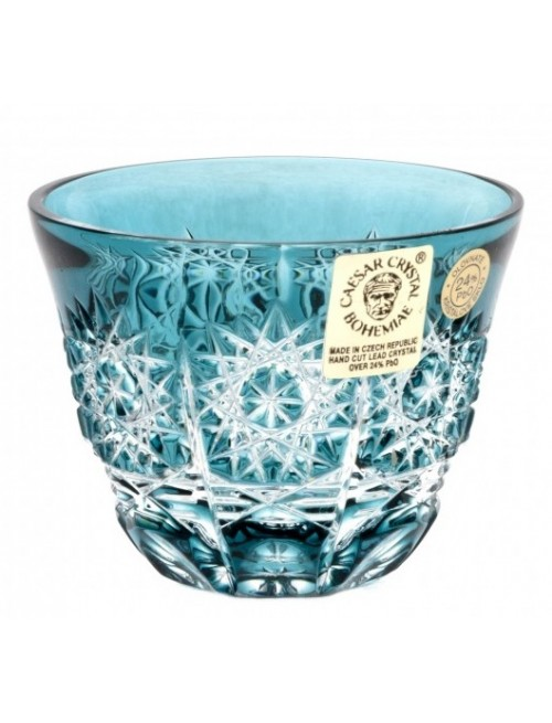 Crystal Shot Glass Paula, color azure, volume 65 ml