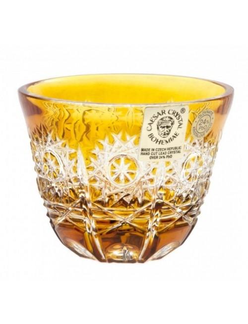 Crystal Shot Glass Paula, color amber, volume 65 ml
