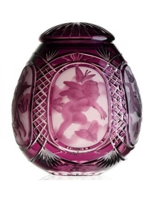 Crystal Urn  Angel, color violet, height 290 mm