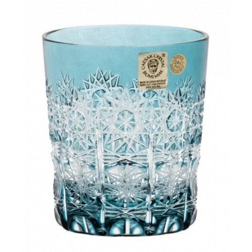 Crystal Glass Paula, color azure, volume 290 ml
