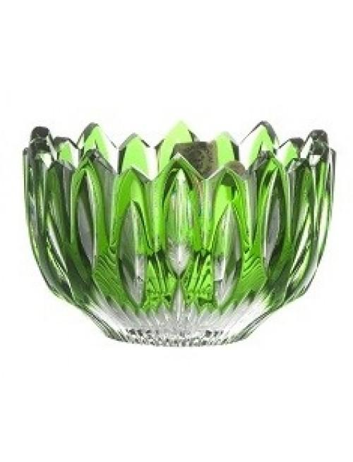 Crystal Bowl Flame, color green, diameter 110 mm