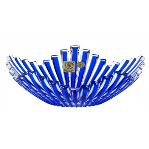 Crystal Bowl Mikado, color blue, diameter 180 mm
