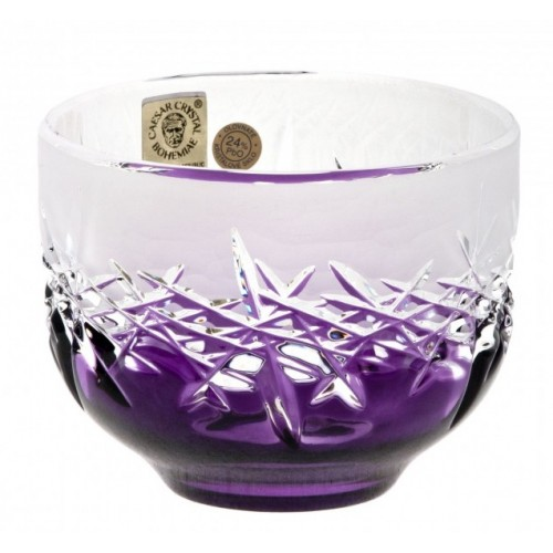 Crystal Bowl Hoarfrost, color violet, diameter 95 mm