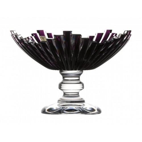Crystal Footed Bowl Mikado, color violet, diameter 230 mm