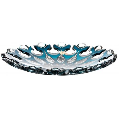 Crystal Plate Flamenco, color azure, diameter 350 mm