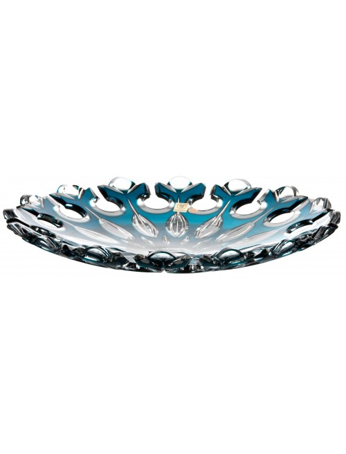 Crystal Plate Flamenco, color azure, diameter 350 mm