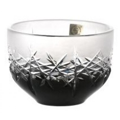 Crystal Bowl Hoarfrost, color black, diameter 110 mm