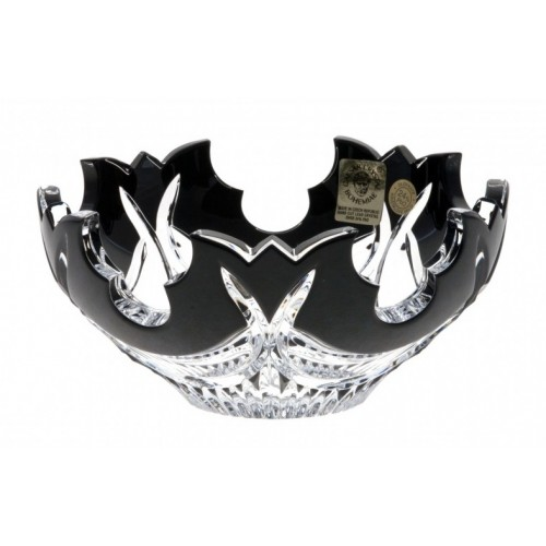 Crystal Bowl Diadem, color black, diameter 100 mm