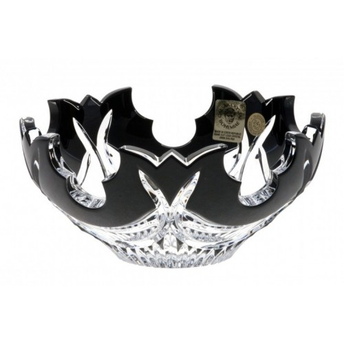 Crystal Bowl Diadem, color black, diameter 130 mm