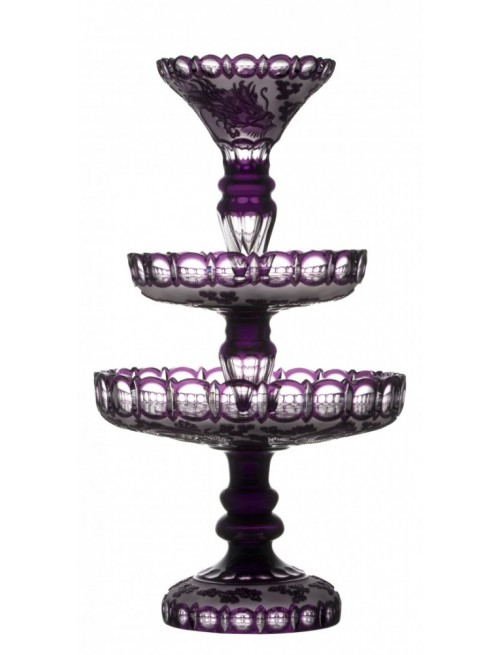 Crystal Etager Dragon, color violet, height 590 mm