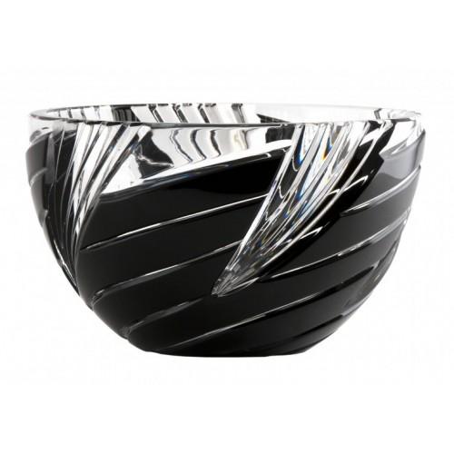 Crystal Bowl Wirl, color black, diameter 150 mm