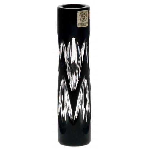 Crystal Vase Snowdrop, color black, height 155 mm