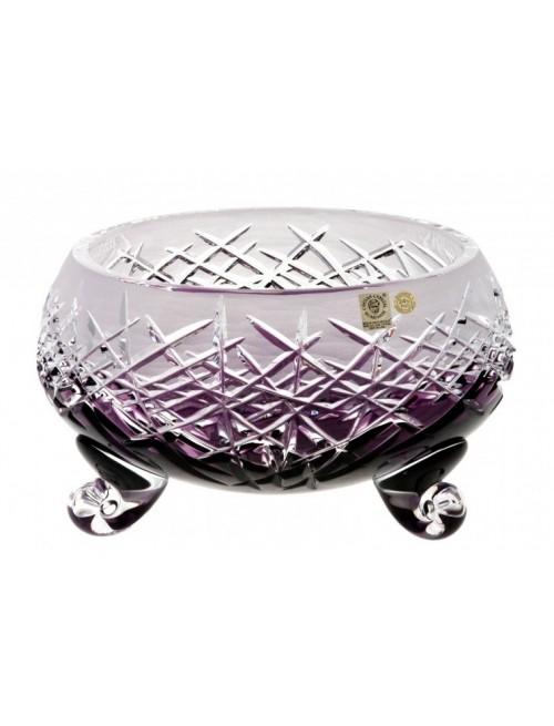 Crystal Bowl Hoarfrost, color violet, diameter 155 mm