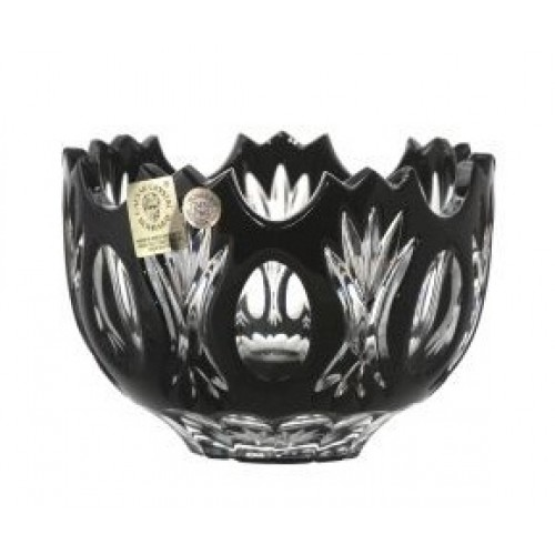 Crystal Bowl Dandelion, color black, diameter 110 mm
