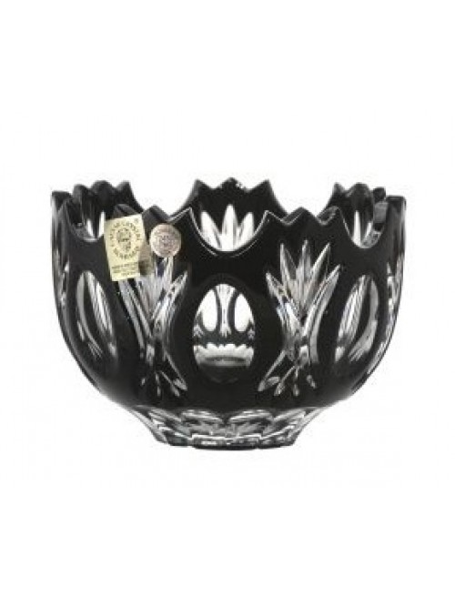 Crystal Bowl Dandelion, color black, diameter 110 mm